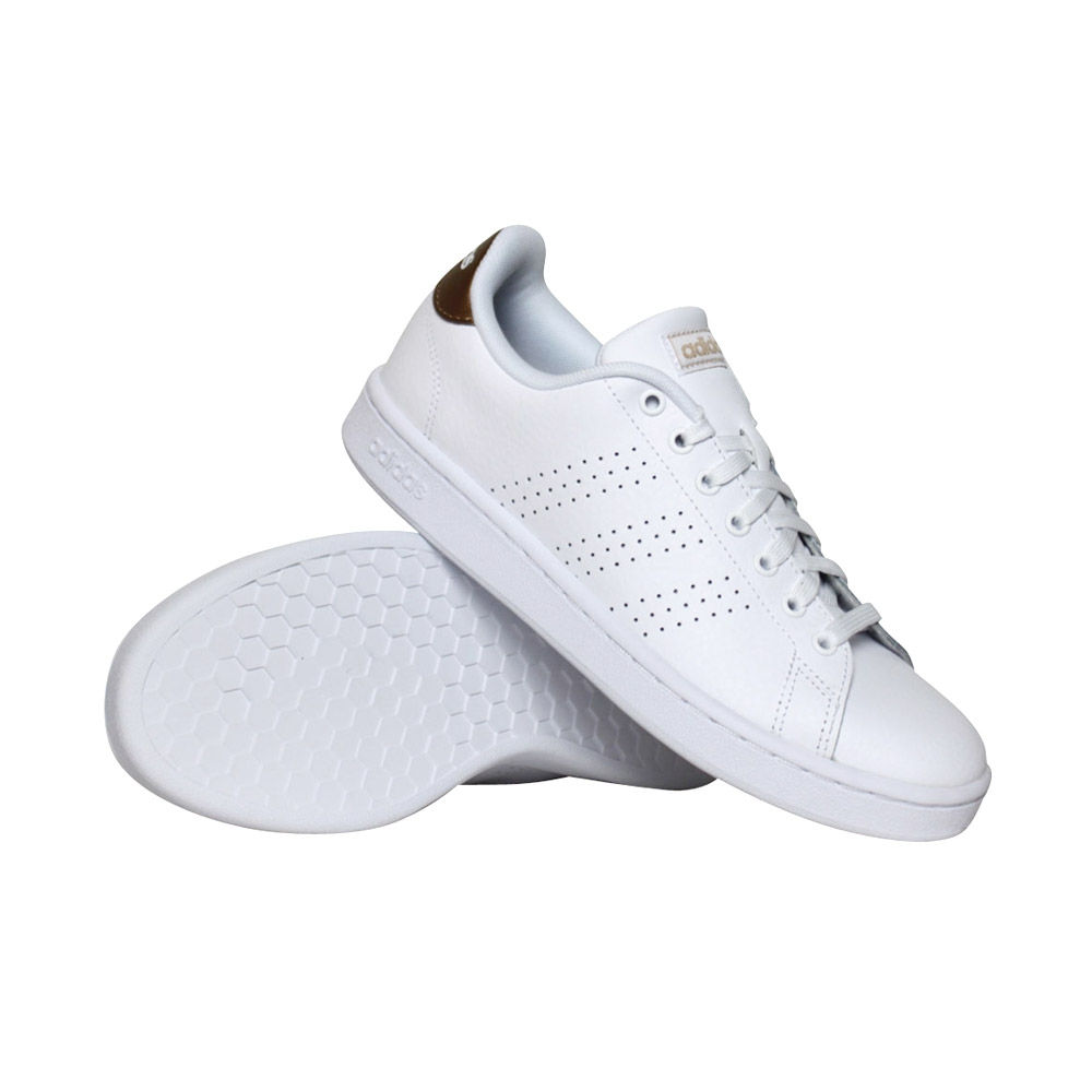 adidas Advantage sneakers dames wit/goud