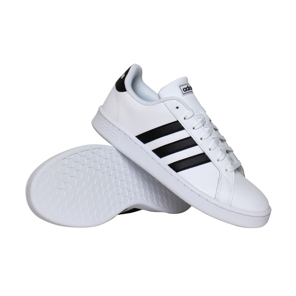 adidas Grand Court sneakers heren wit/zwart