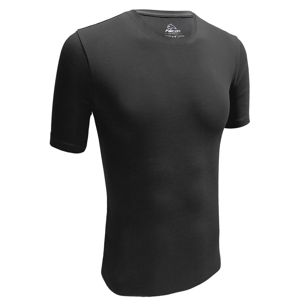 Falcon Hugh O hals t-shirts 2-pack heren zwart