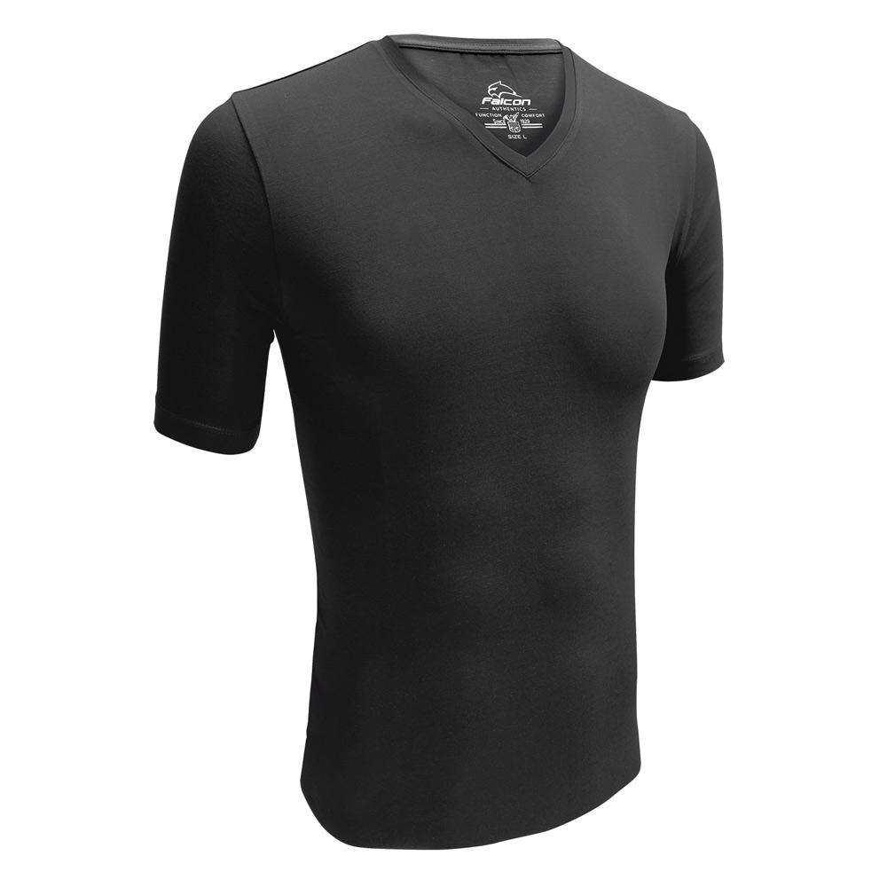Falcon Hugh V hals t-shirts 2-pack heren zwart