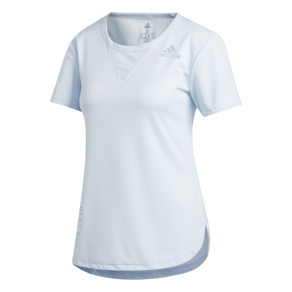adidas Heat Ready 3-Stripes shirt dames licht blauw