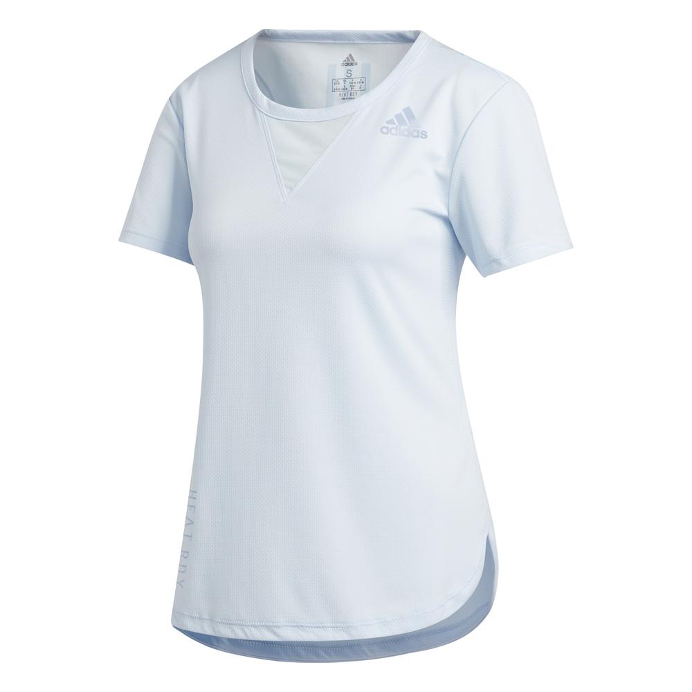 adidas Heat Ready 3-Stripes shirt dames licht blauw