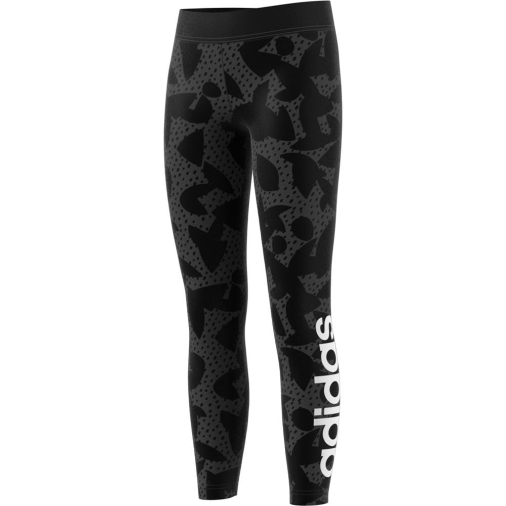 adidas XPR tight lang meisjes grijs/zwart