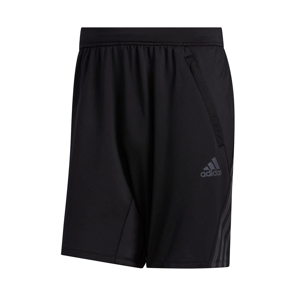 adidas Aero 3-Stripes short heren zwart