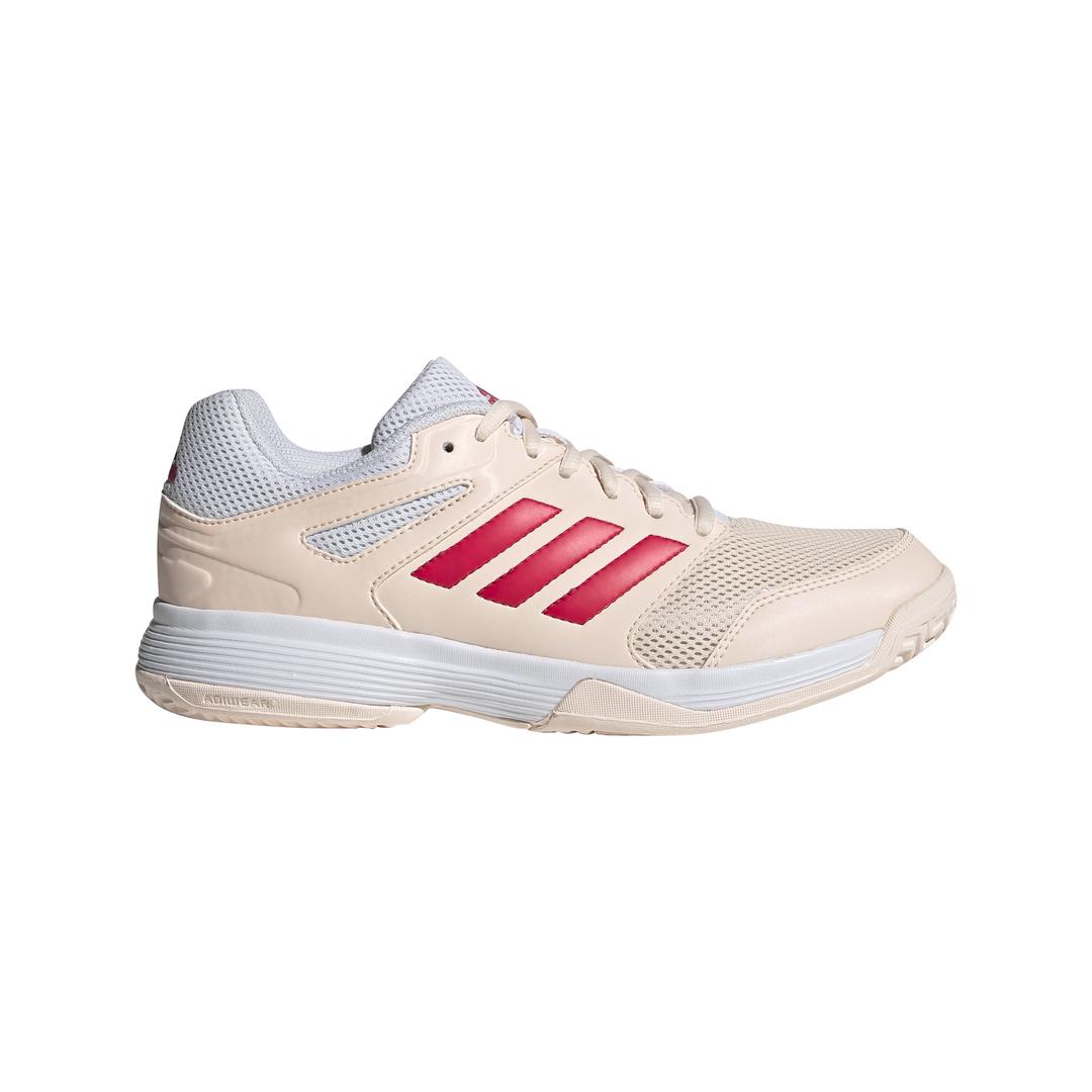 adidas Speedcourt indoorschoenen meisjes wit/roze