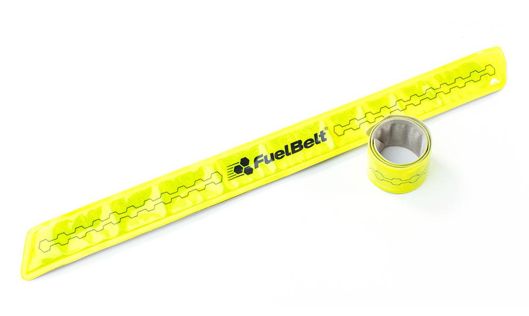 Fuelbelt Neon Snap Bands Reflectiebanden - Geel