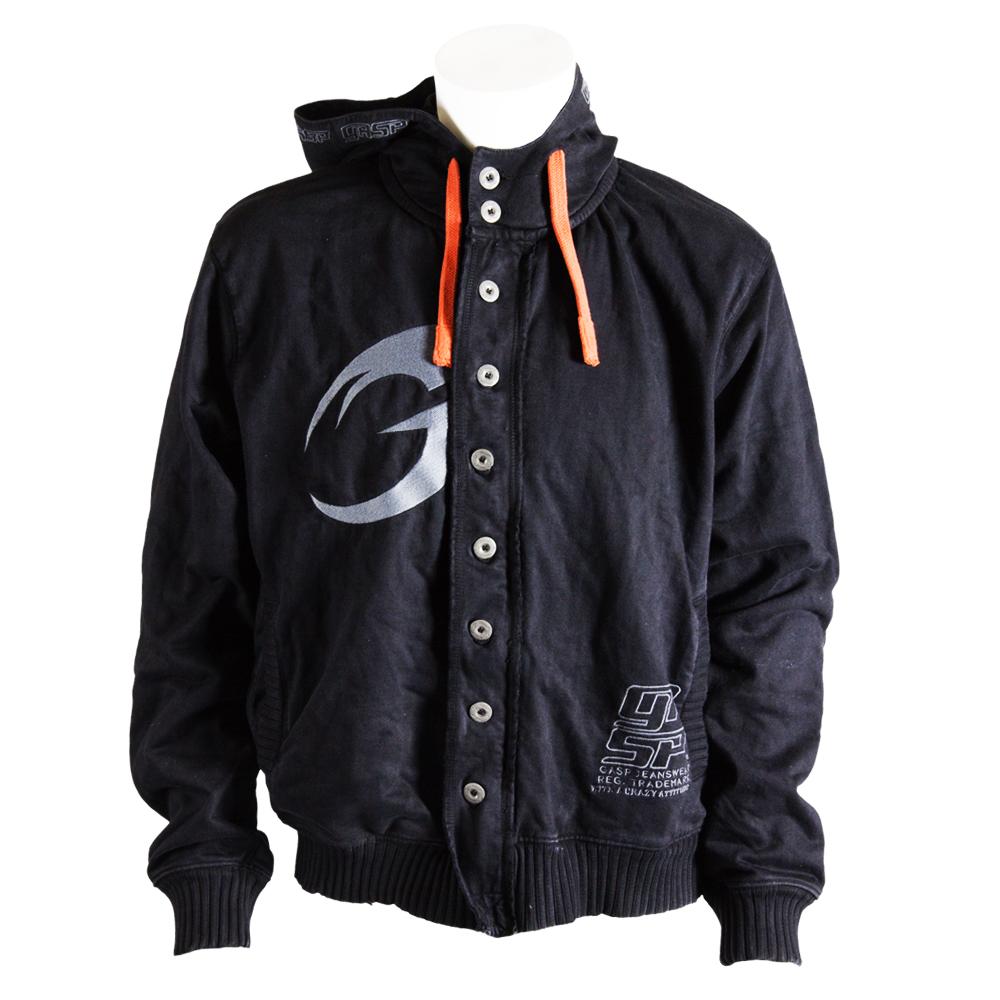 GASP  Cargo hood jacket black - L