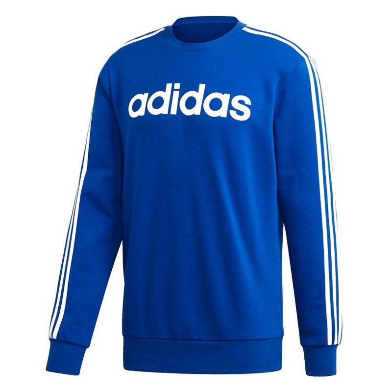 adidas Essential 3-Stripes Crew sweater heren blauw/wit