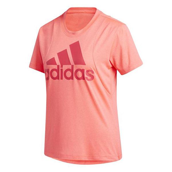 adidas BOS Logo shirt dames roze/rood