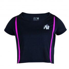 Gorilla Wear Columbia Crop Top Zwart/Roze - M