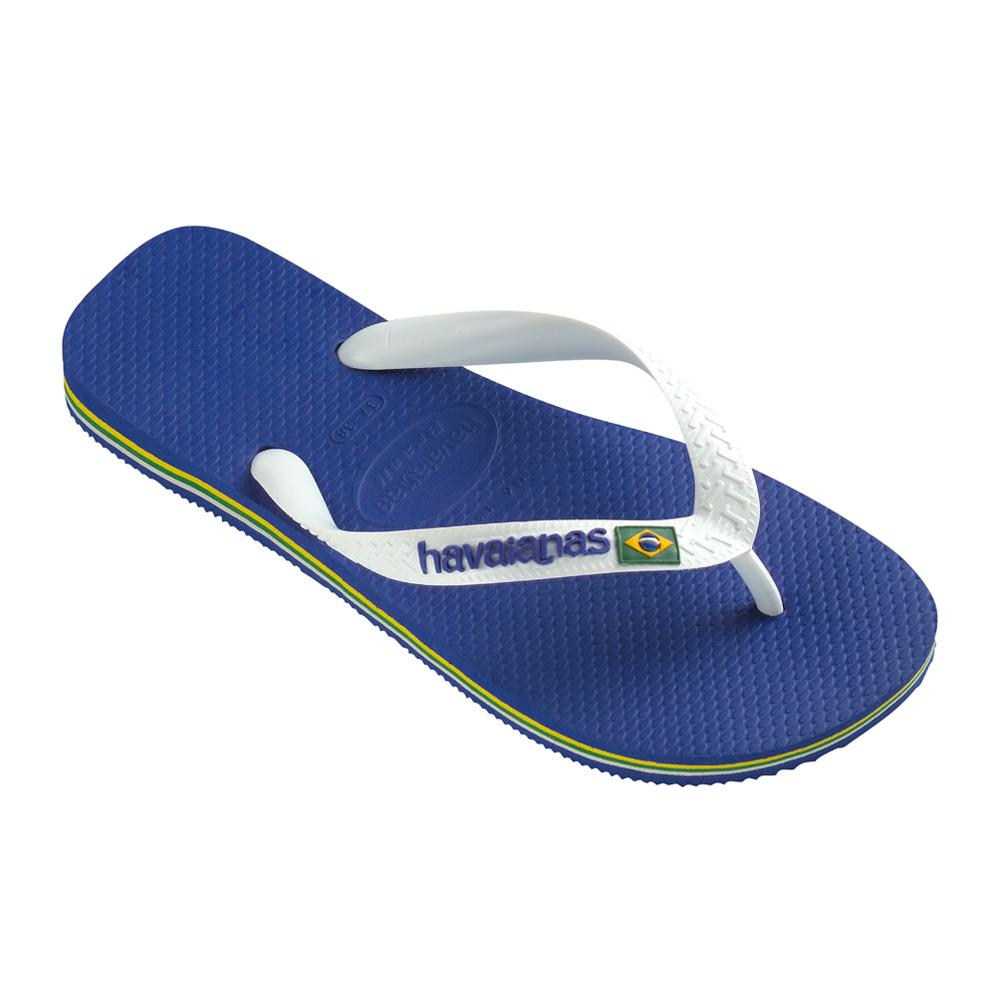 Havaianas Brasil Logo teenslippers heren blauw/wit