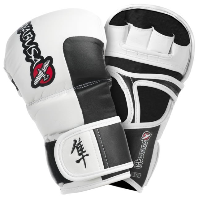 Hayabusa Tokushu Hybride MMA Handschoen - Wit
