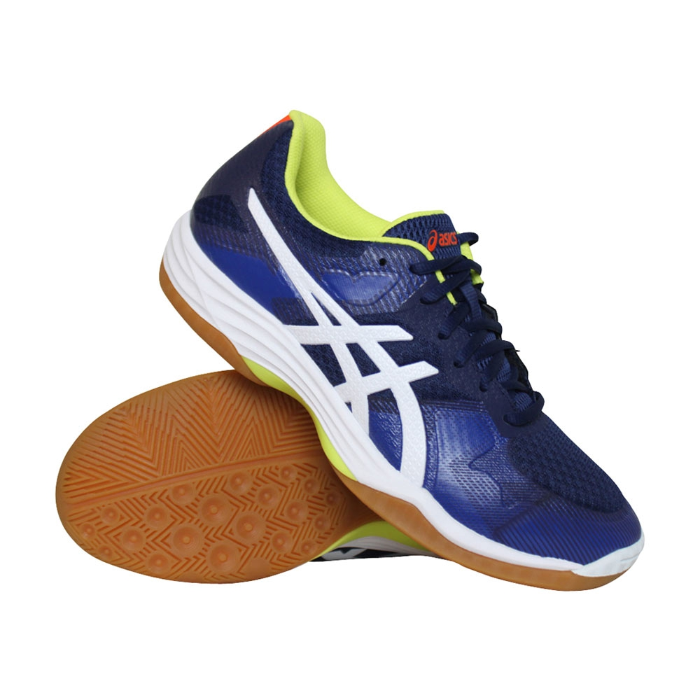 Asics Gel-Tactic indoorschoenen heren blauw/wit