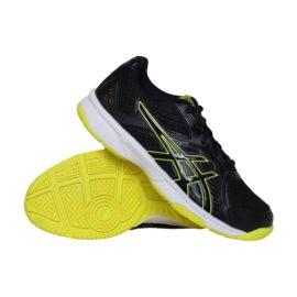 Asics Upcourt 3 GS indoorschoenen jongens zwart/geel