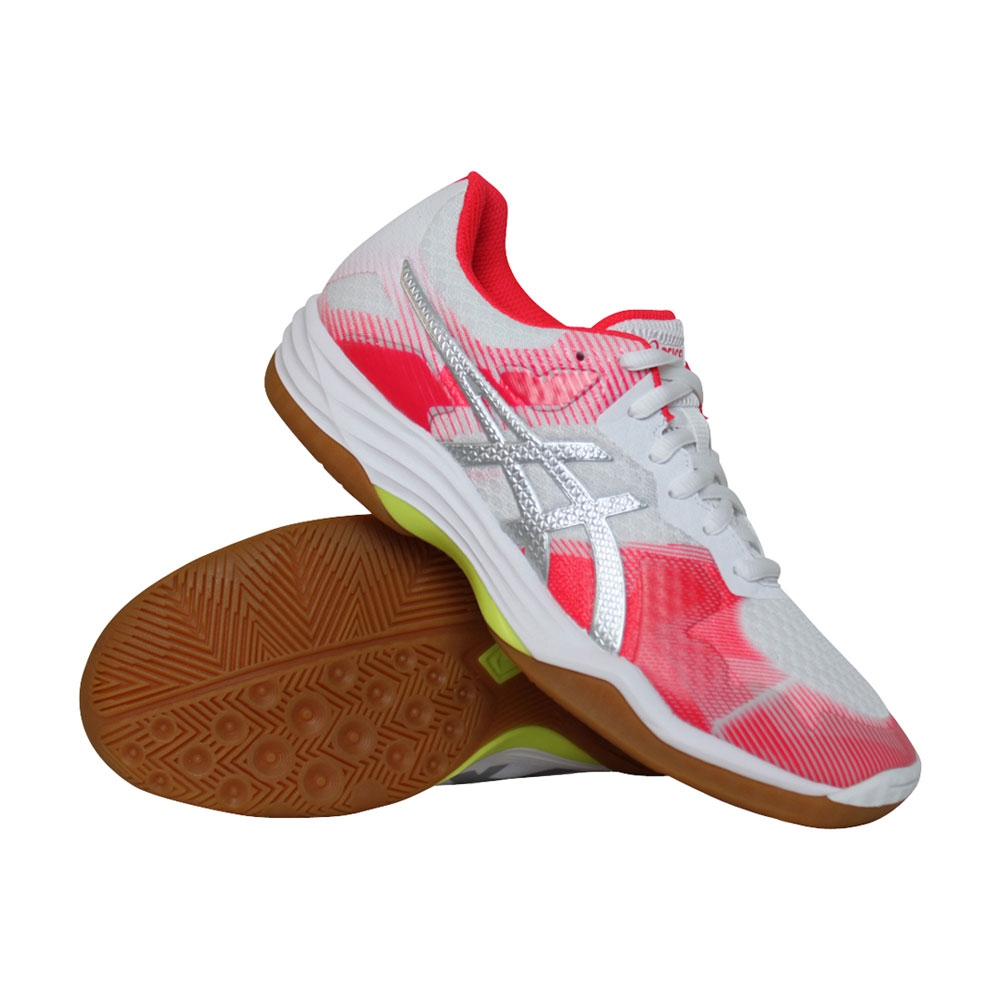 Asics Gel-Tactic indoorschoenen dames wit/roze