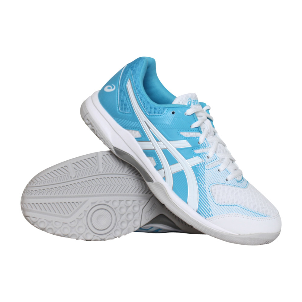 Asics Gel-Rocket 9 indoorschoenen dames blauw/wit