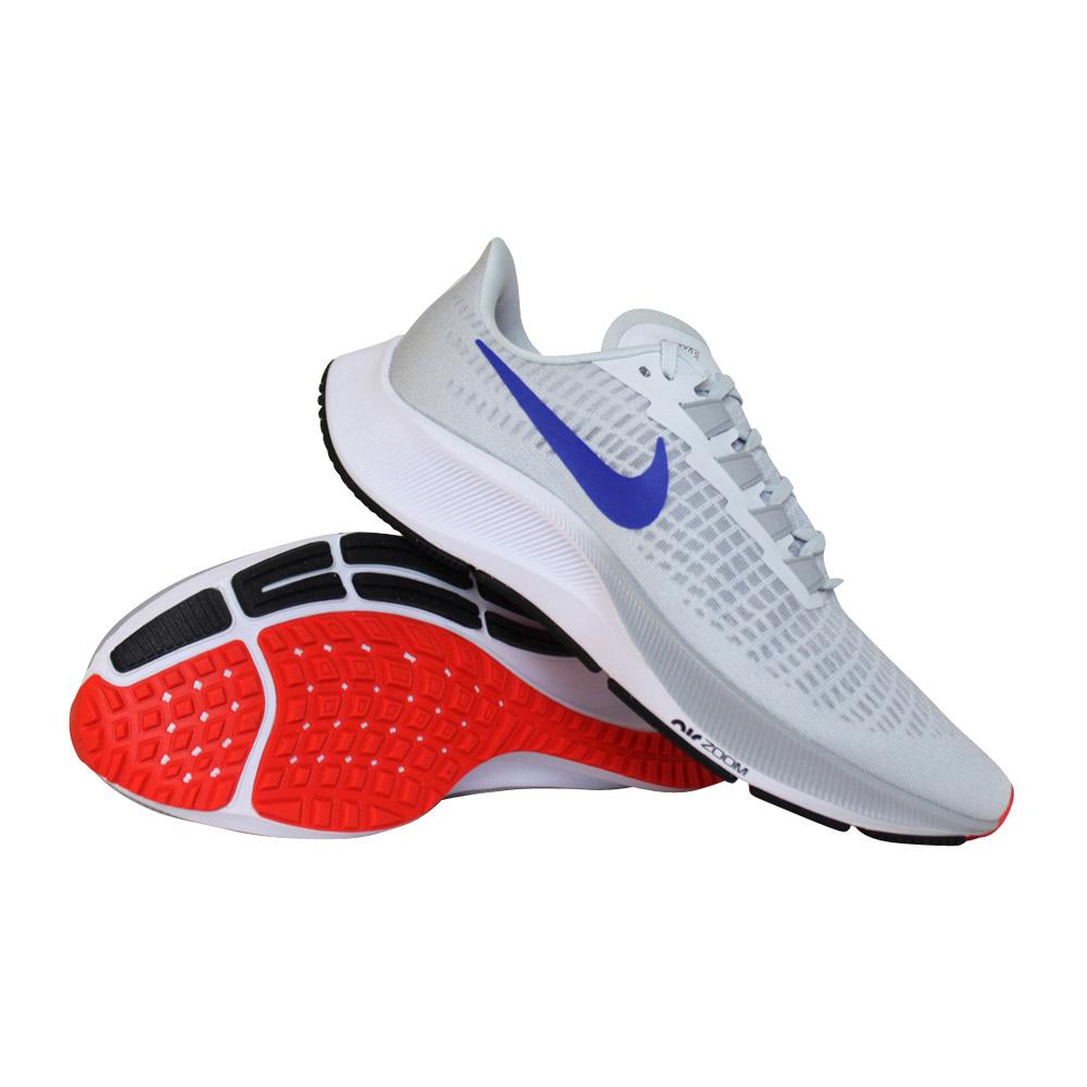 Nike Air Zoom Pegasus 37 hardloopschoenen heren grijs/blauw