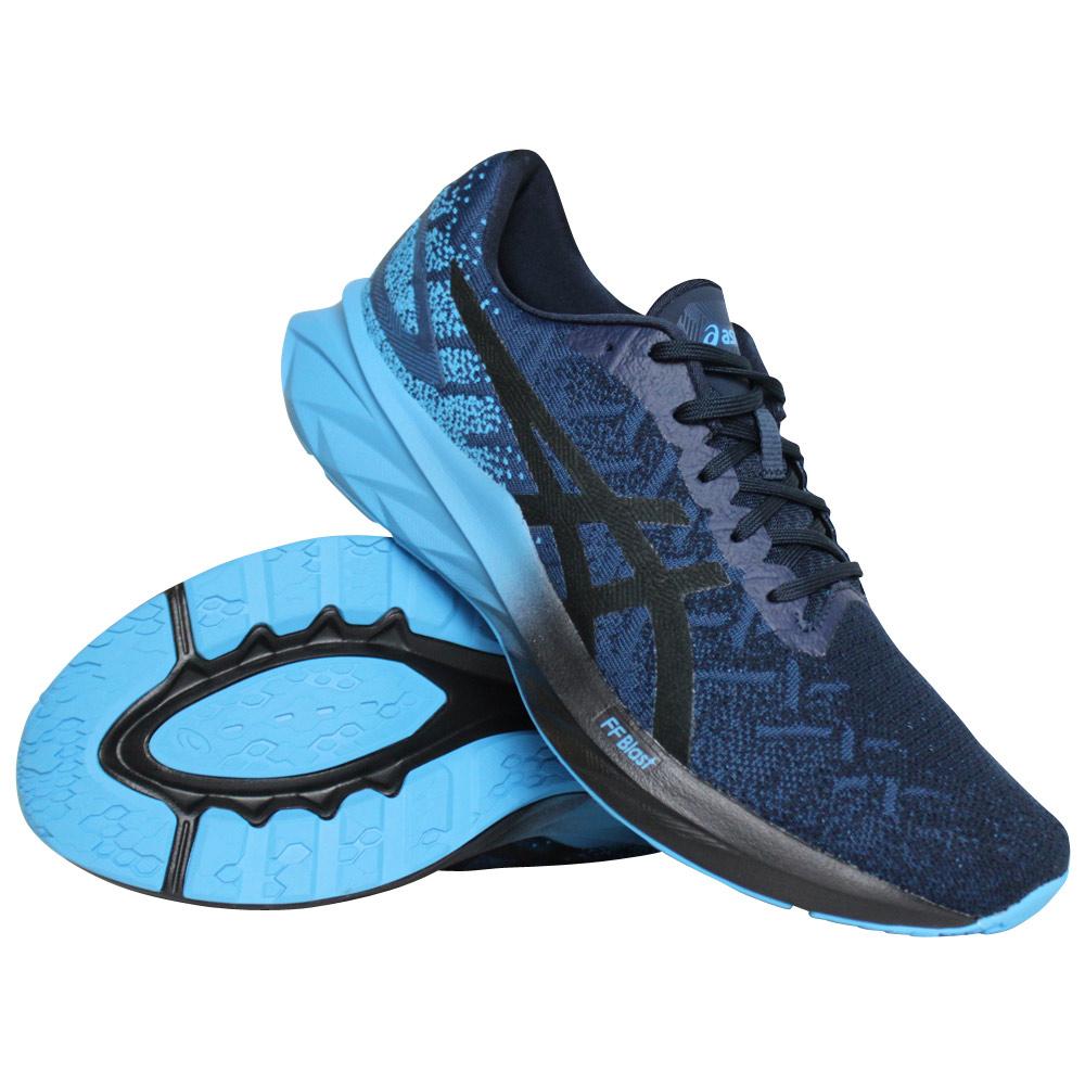 Asics Dynablast hardloopschoenen heren blauw/zwart