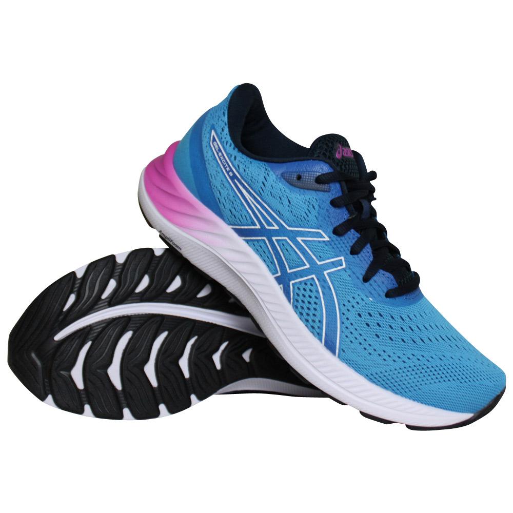 Asics Gel-Excite 8 hardloopschoenen dames blauw/roze