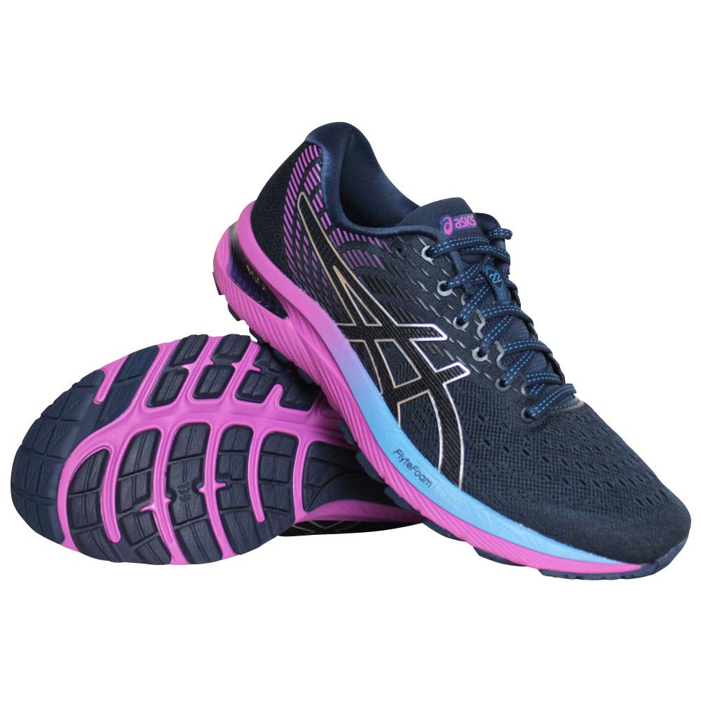 Asics Gel-Cumulus 22 hardloopschoenen dames zwart/roze
