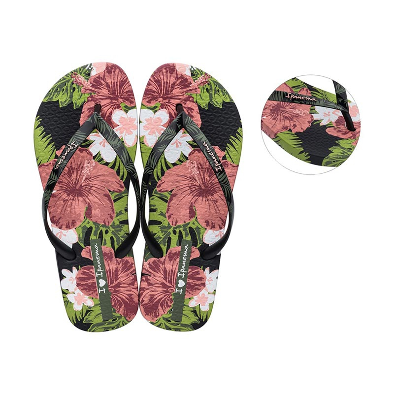 Ipanema I Love Sun teenslippers dames zwart/roze