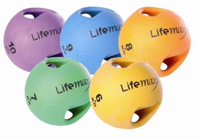 Lifemaxx Double Handle Medicine Bal 6-10 kg