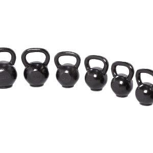 Crossmaxx Gietijzeren kettlebell met rubber voet - 4-50 kg
