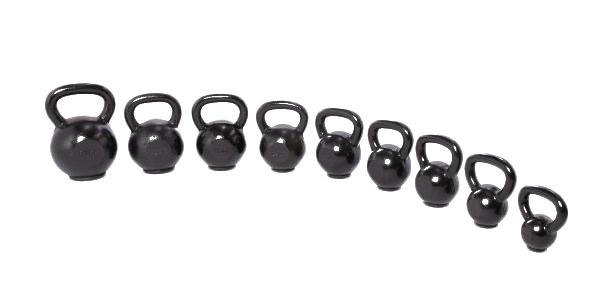 Lifemaxx Gietijzeren kettlebell met rubber voet - 4-50 kg