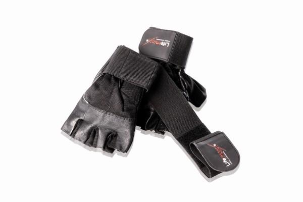 Fitness handschoenen met polsbanden L