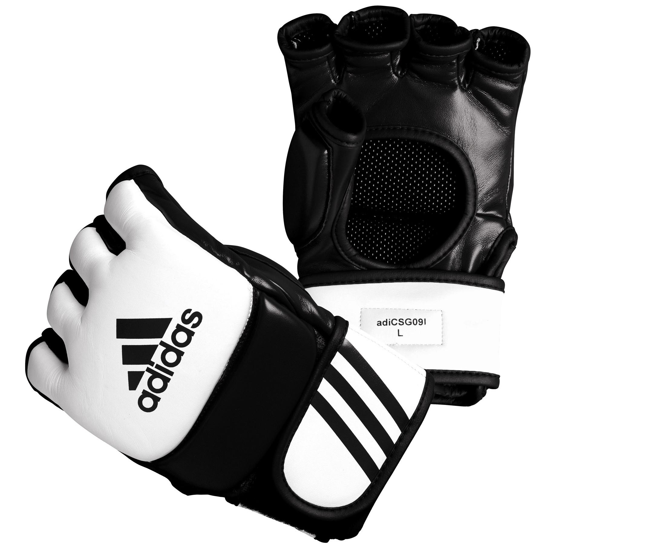 Adidas MMA Competition Handschoenen - Wit/Zwart