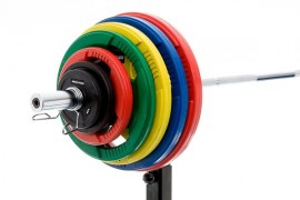 MP Rubber schijf gekleurd 10 kg (50 mm)
