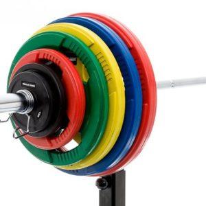 MP Rubber schijf gekleurd 15 kg (50 mm)