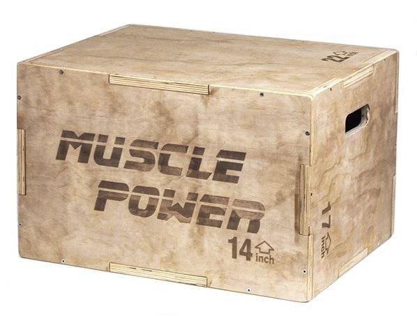Muscle Power Houten Plyo Box Klein