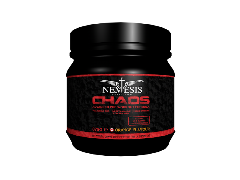 Nemesis Nutrition  Chaos Pre-Workout 375g - Mixed Berry