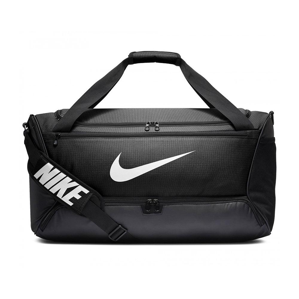 Nike Brasilia medium duffel sporttas zwart