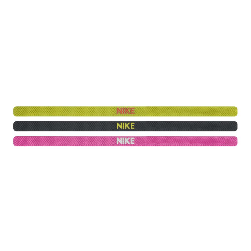 Nike elastische haarbanden 3-pack geel/zwart/roze