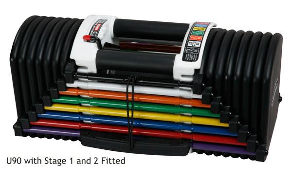PowerBlock flex u90 stage 2 (25 - 41 kg per paar)