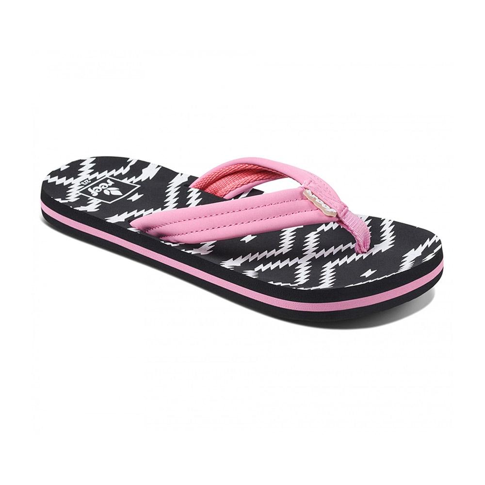 Reef Ahi Loretto teenslippers meisjes zwart/roze