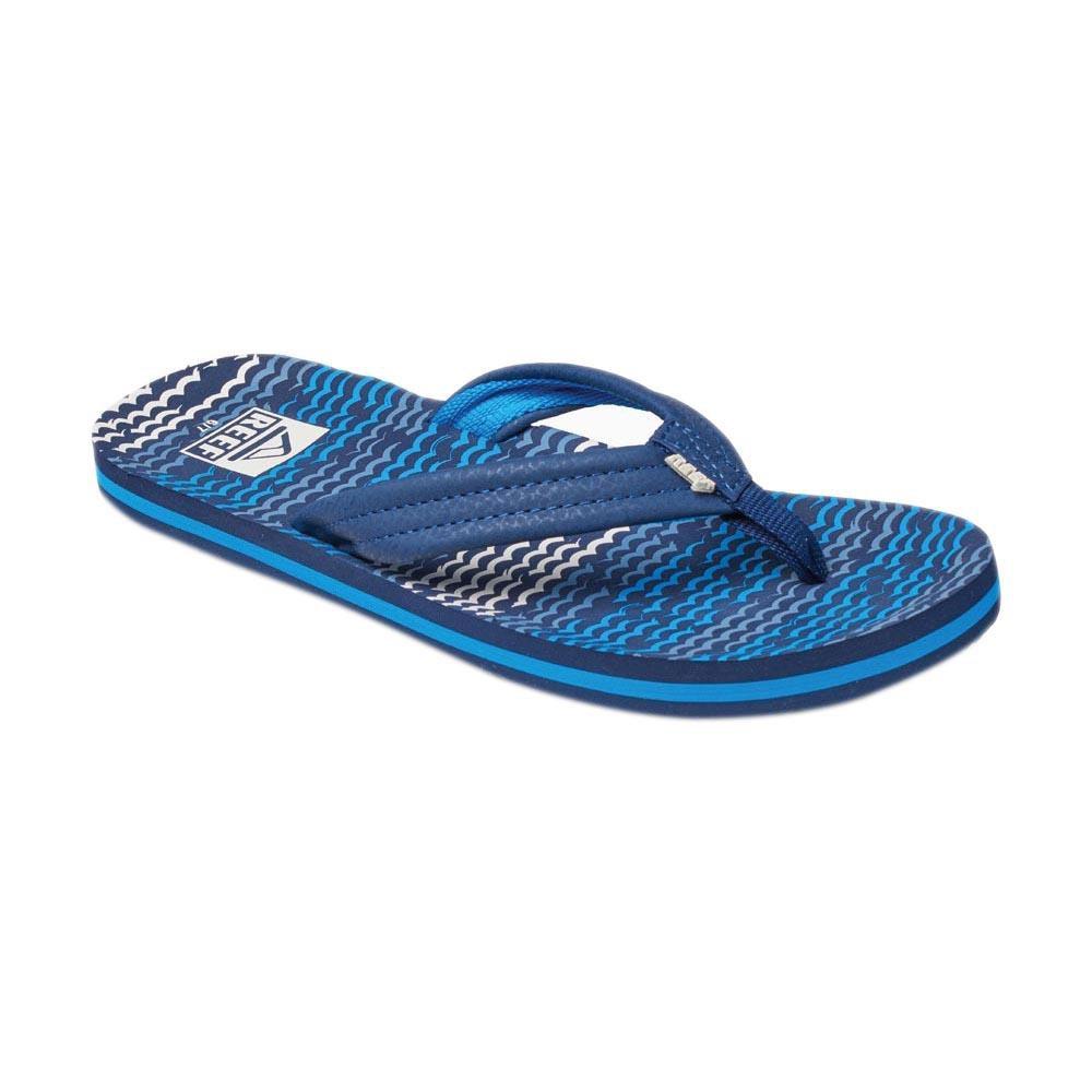 Reef Ahi teenslippers jongens donker blauw print