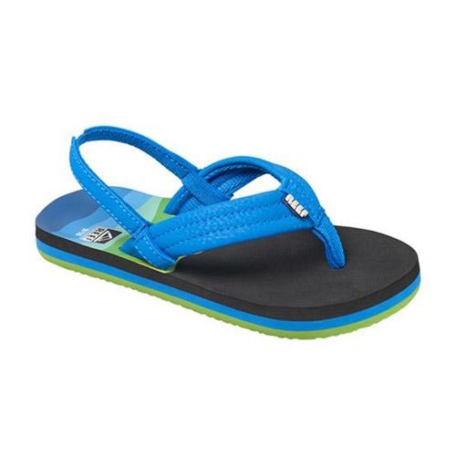 Reef Ahi teenslippers kids blauw print