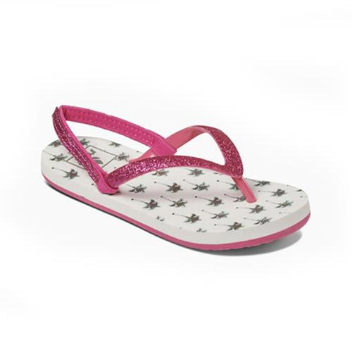 Reef Little Stargazer teenslippers meisjes wit