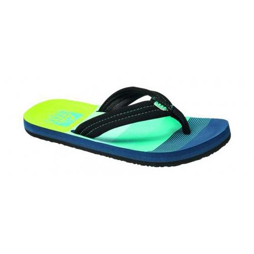 Reef Little Ahi teenslippers jongens blauw/groen