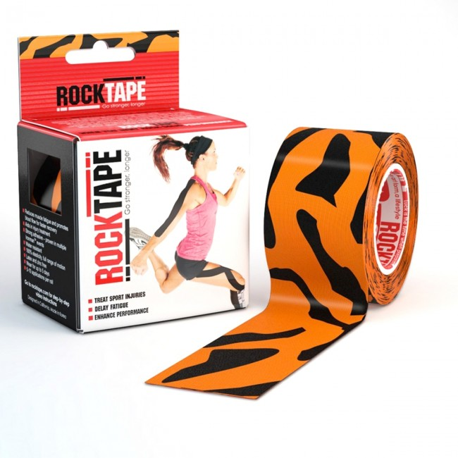 RockTape Classic Kinesiotape - Sporttape - 5 cm x 5 m - Tijger