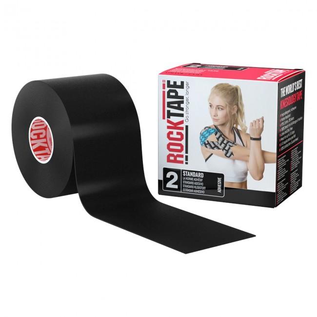 RockTape Classic Kinesiotape - Sporttape - 5 cm x 5 m - Zwart