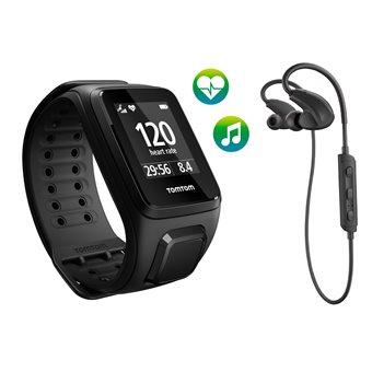 TomTom Spark Cardio + Music + BT HP GPS Fitnesshorloge Large