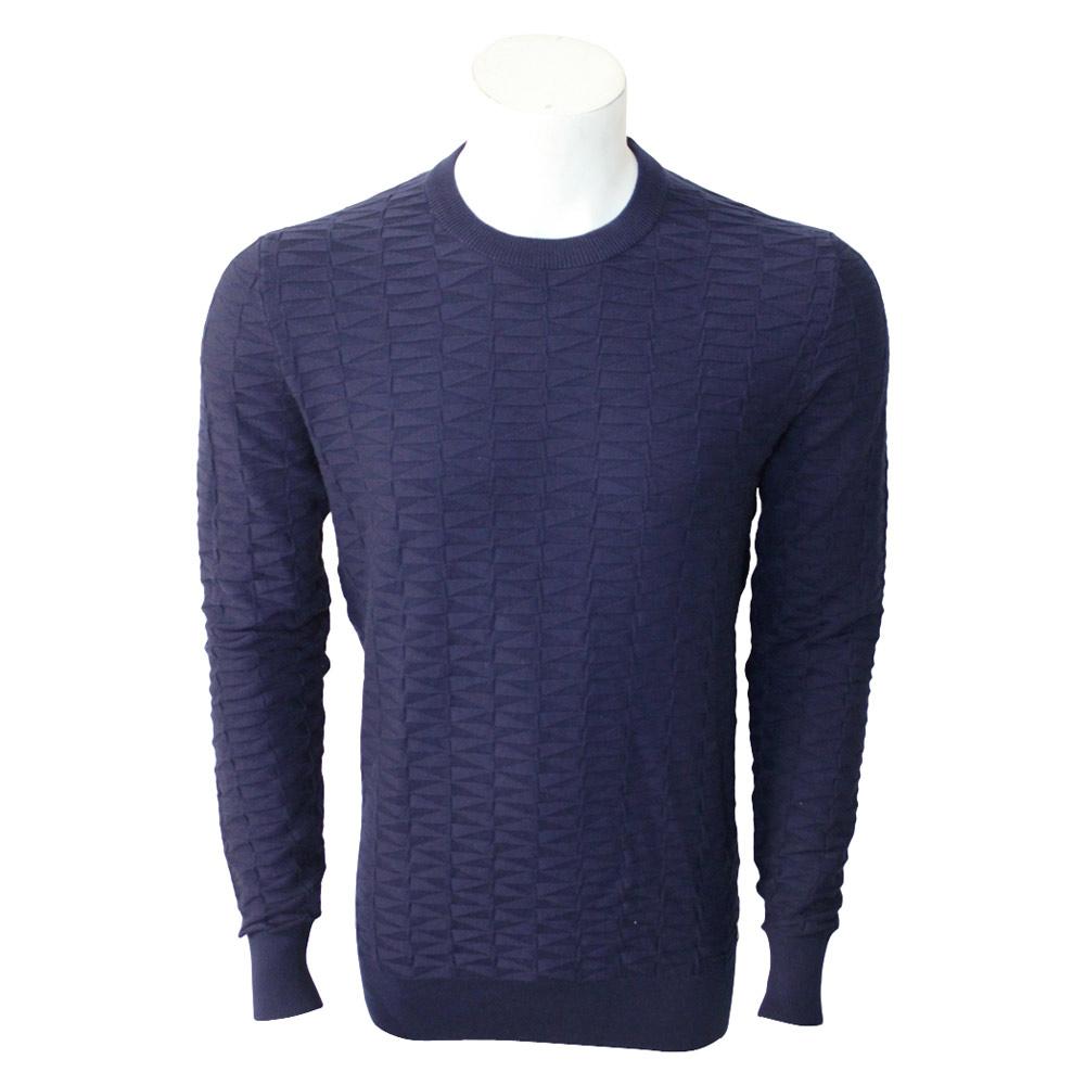 Twinlife Structure Crew sweater heren marine