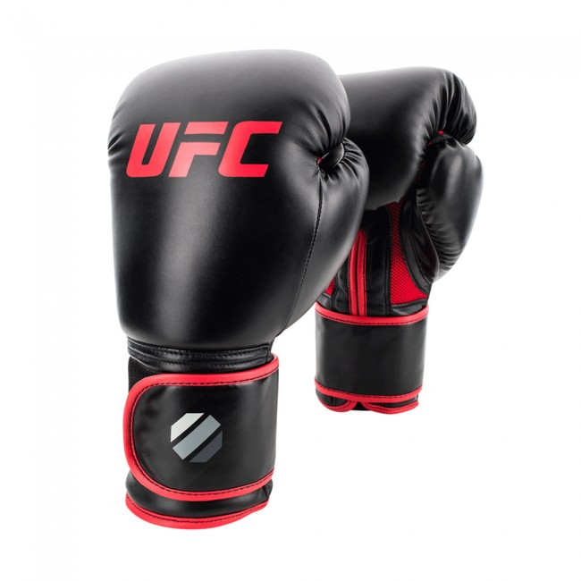 UFC Contender Muay Thai Style (kick)bokshandschoenen - Zwart/Rood - 14 oz
