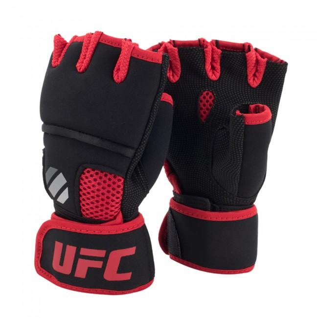UFC Contender Quick Wrap Binnenhandschoenen Met Gel-Padding - Zwart/Rood - S/M