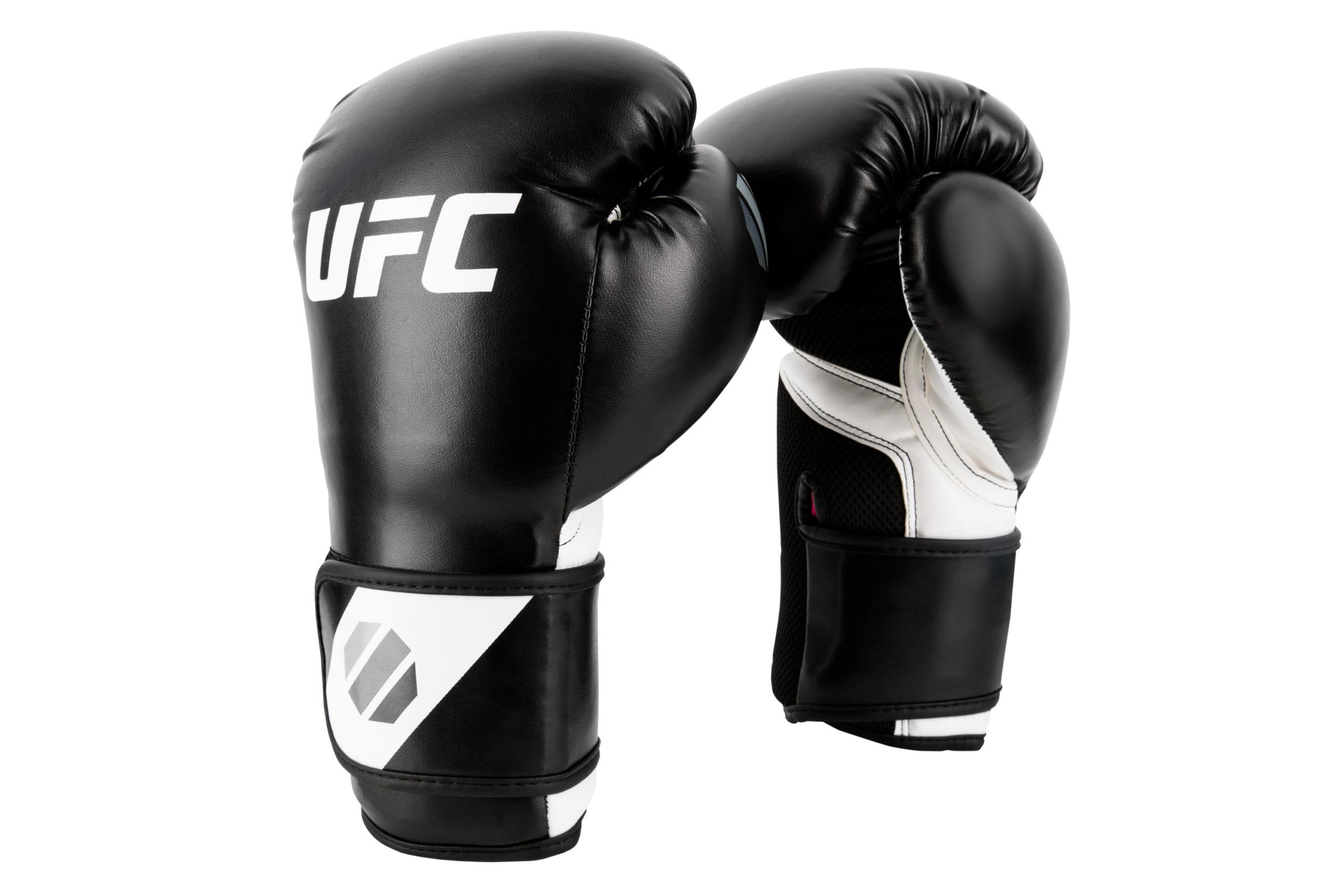 UFC Training (kick)bokshandschoenen Zwart/Wit - 8 oz