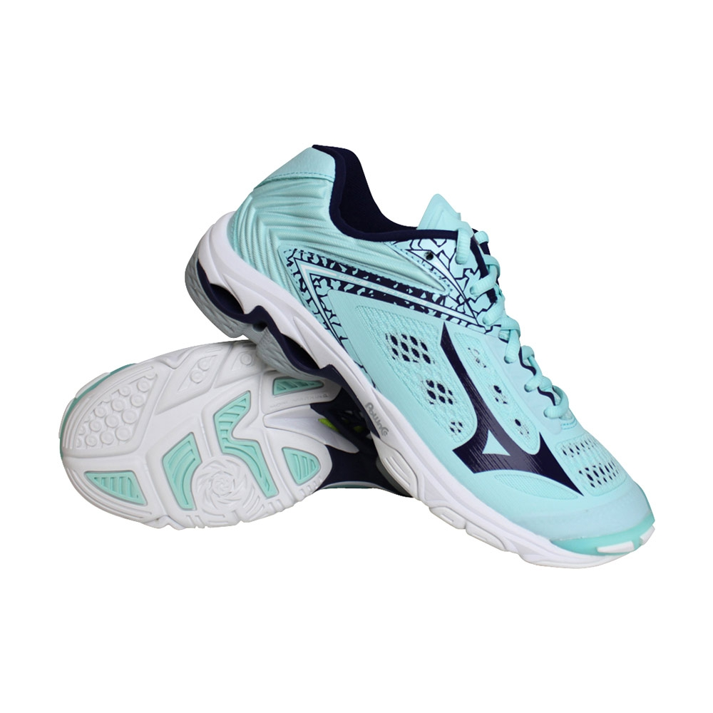 Mizuno Wave Lightning Z5 indoorschoenen dames mint/marine